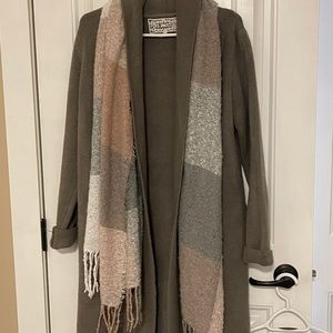 Sweater coat-worn once-size xs